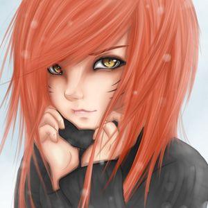 Preview wallpaper anime, girl, art, eyes, cat