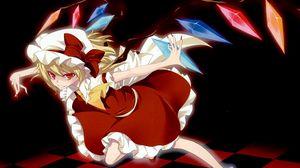 Preview wallpaper anime, girl, vampire, flying, magic