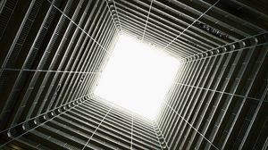 Preview wallpaper architecture, construction, light, bottom view, design