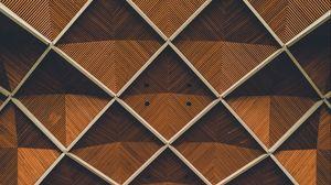 Preview wallpaper architecture, interior, grid, symmetry, lines, design