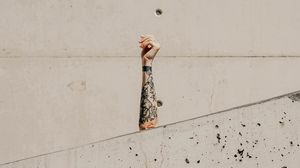 Preview wallpaper arm, tattoo, wall, marble, white
