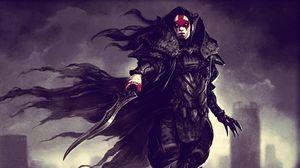Preview wallpaper armor, warrior, sword, blood, vampire