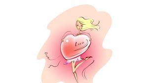 Preview wallpaper art, drawing, love, heart, confession, girl