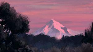 Preview wallpaper art, paints, landscape, mountains