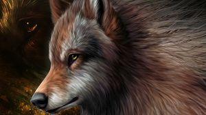 Preview wallpaper art, wolf, graphics, wool