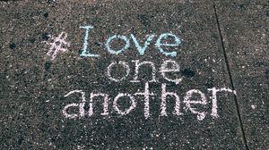 Preview wallpaper asphalt, inscription, love, inspiration