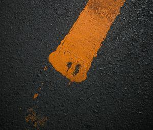 Preview wallpaper asphalt, line, paint, marking, texture