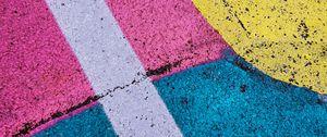 Preview wallpaper asphalt, paint, colorful, texture