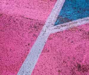Preview wallpaper asphalt, paint, texture, colorful, marking