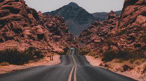 Preview wallpaper asphalt, road, marking, valley, traffic