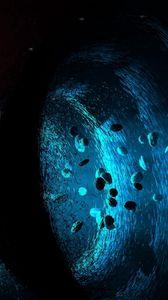 Preview wallpaper asteroids, black hole, funnel, light