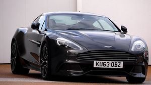 Preview wallpaper aston martin, tuning, black, front view