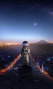 Preview wallpaper astronaut, art, space, stars, galaxy