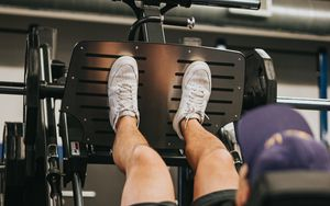 Preview wallpaper athlete foot, trainer, gym, sports