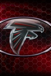 Preview wallpaper atlanta falcons, american football, logo