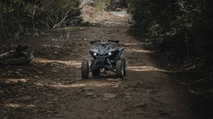 Preview wallpaper atv, wheels, extreme, road, forest