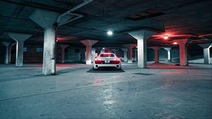 Preview wallpaper audi, car, sports car, white, rear view, parking