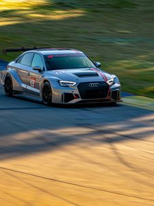 Preview wallpaper audi, car, tuning, speed, race
