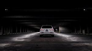 Preview wallpaper audi q5, audi, car, white, rear view, parking