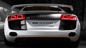 Preview wallpaper audi, r8, luxury, car, white, symbols, ride