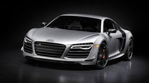 Preview wallpaper audi r8, silver, front view