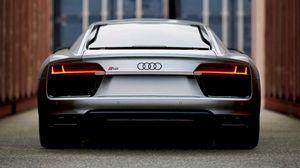 Preview wallpaper audi, sports car, rear view