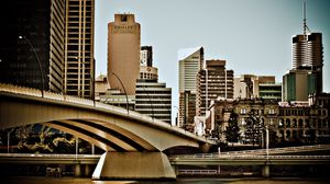 Preview wallpaper australia, bridge, building, river