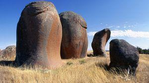Preview wallpaper australia, stones, field, grass