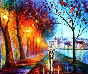 Preview wallpaper autumn, drawing, walking