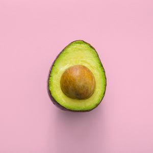 Preview wallpaper avocado, minimalism, pink