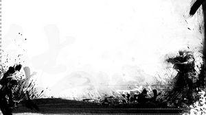 Preview wallpaper background, warrior, minimalism, patterns, black white