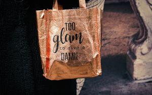 Preview wallpaper bag, inscription, phrase, words