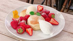 Preview wallpaper baking, berries, ice cream, dessert, breakfast, aesthetics