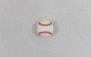 Preview wallpaper ball, baseball, white, minimalism