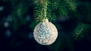 Preview wallpaper ball, decoration, tree, new year, christmas