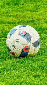 Preview wallpaper ball, football, lawn, grass
