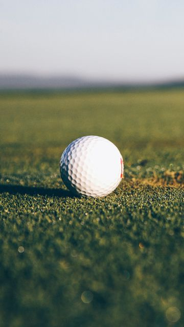 360x640 Wallpaper golf, ball, hole, lawn