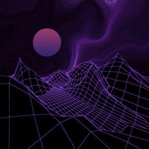 Preview wallpaper ball, mesh, relief, purple