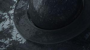 Preview wallpaper ball, orbit, black, scratches