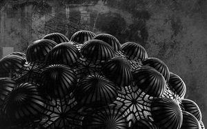 Preview wallpaper ball, relief, 3d, black