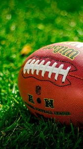 Preview wallpaper ball, rugby, american football, football, lawn