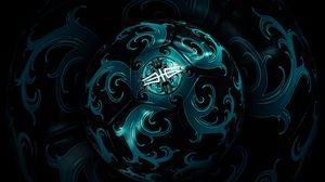 Preview wallpaper ball, shape, spin, dark
