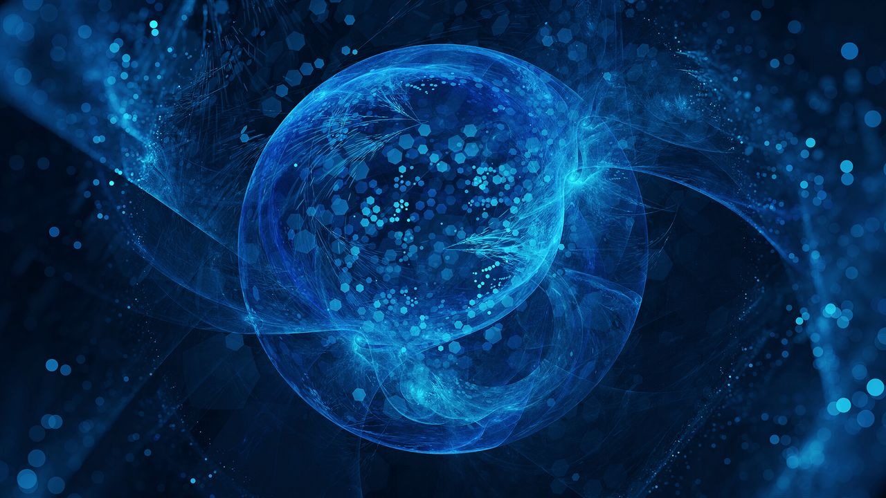 Wallpaperball,shapes,blue,abstraction高清壁纸免费下载