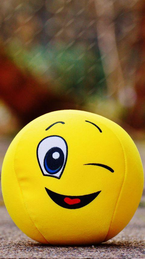 480x854 Wallpaper ball, smile, happy, toy