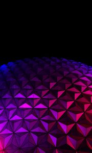 Preview wallpaper ball, surface, relief, gradient, purple