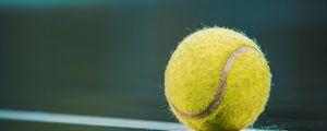 Preview wallpaper ball, tennis, court, reflection, lines, marking