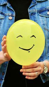 Preview wallpaper balloon, smile, hands