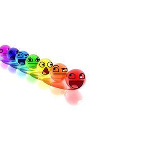 Preview wallpaper smile, balls, colorful