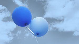 Preview wallpaper balloons, flight, sky, clouds