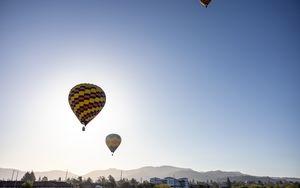Preview wallpaper balloons, flight, sky